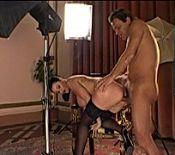 Girl choaking on cock